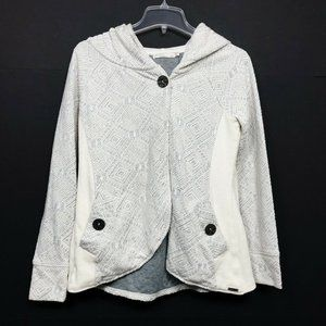 Prana One Button Cardigan Hooded Cape Sweater